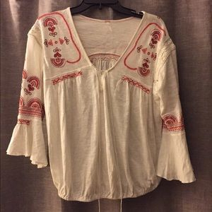 Free people embroidered blouse size small
